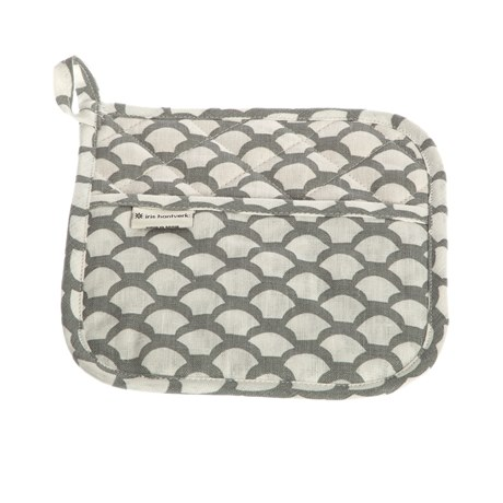 Iris Hantverk Potholder Sara's Roof Neutral Grey