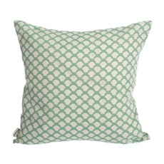 Iris Hantverk Cushion Cover Sara's Roof Frosty Green