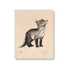 Plywood Poster Fox Cub