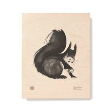 Plywood Poster Squirrel