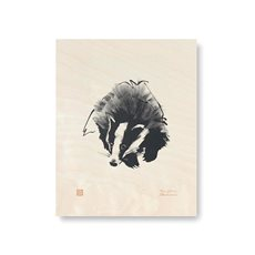 Plywood Poster Badger
