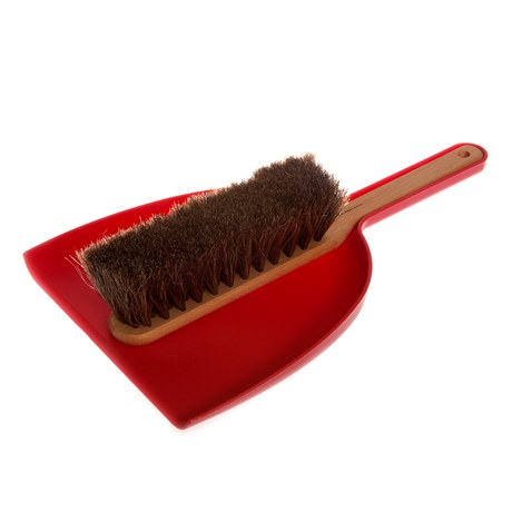 Iris Hantverk Dustpan & Brush Set Red
